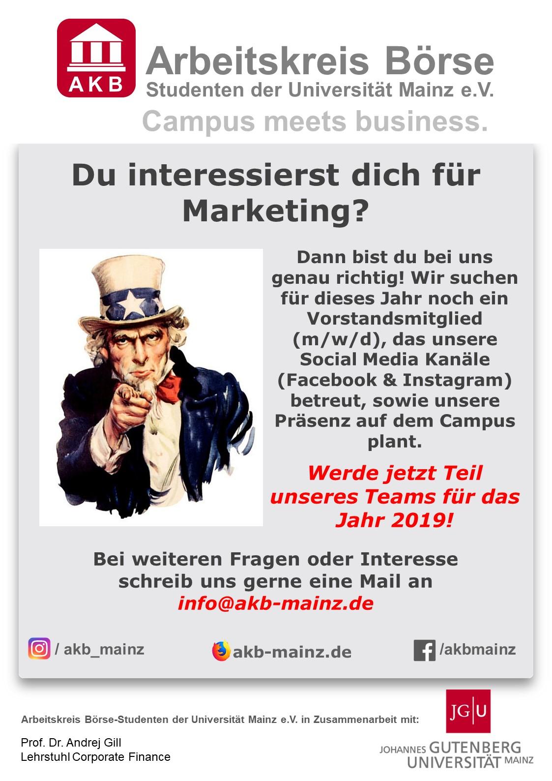 Ausschreibung Marketingvorstand